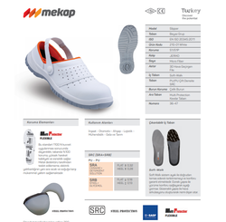 Mekap Slipper 210-01 S1 Beyaz - Thumbnail