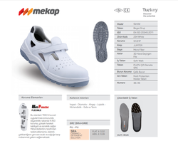 Mekap Sandal 234 S1 Beyaz - Thumbnail