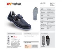 Mekap Jeriko 234R S1 Siyah Çelik Burunlu Sandalet - Thumbnail