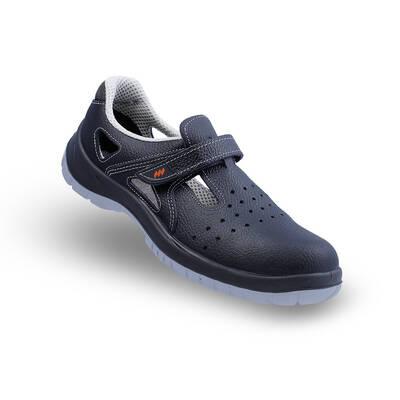 Mekap Jeriko 234R S1 Siyah Çelik Burunlu Sandalet
